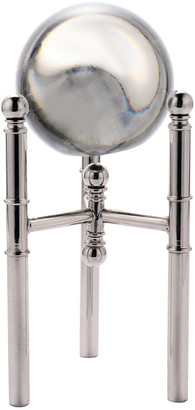 Sagebrook Home Crystal Orb On Silver Tripod Base