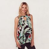 Lauren Conrad Women's Tropical Leaf Tunic