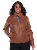 Gallery Plus Size Faux-Leather Moto Jacket