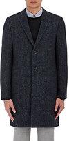 Paul Smith Men's Herringbone Wool-Blend Coat-NAVY