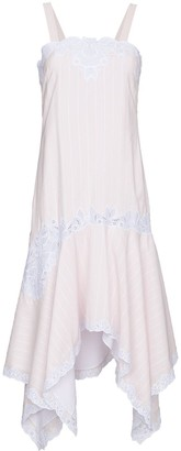 Jonathan Simkhai Asymmetric dress with scallop edge embroidery
