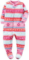 Carter's Baby Girl Winter Printed Footed Pajamas