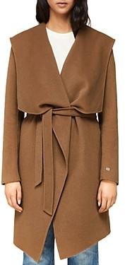 Soia & Kyo Samia Draped Double-Face Wool-Blend Coat