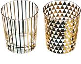 Just Slate Gold Patterned Drinking Glasses Set of 2