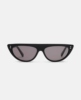Stella McCartney shiny black round sunglasses