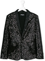 DSQUARED2 sequinned blazer - kids - Cotton/Polyamide/Polyester/Viscose - 14 yrs
