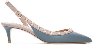 Valentino Blue Garavani Rockstud Slingback Heels