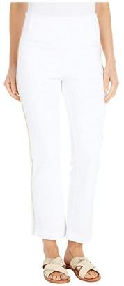 Lysse Octavia Baby Bootcut Knit Denim with Gold Stripe Trim (White) Women's Jeans