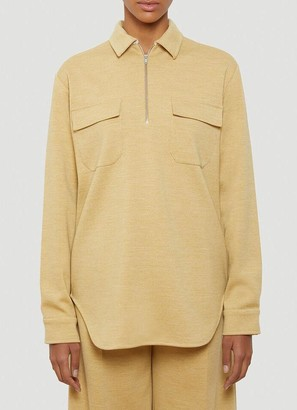 Jil Sander Half Zip Pocket Detail Jumper