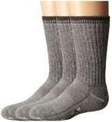 Wigwam Merino Comfort Hiker 3 Pack (Toddler/Youth) (Charcoal) Crew Cut Socks Shoes