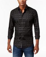 Calvin Klein Men's Blown Plaid Jacquard Shirt