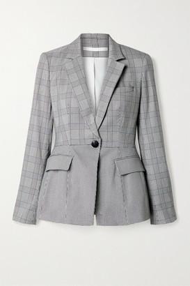 Veronica Beard Suri Dickey Houndstooth Cotton-blend Tweed Blazer - Black