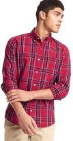 Gap True wash large plaid slim fit shirt