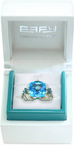 Effy Limited Edition Blue Topaz (7-7/8 ct. t.w.) and Diamond (3/4 ct. t.w.) Ring in 14k Gold