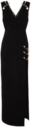 Versace Safety Pin silk midi dress