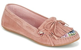 Ippon Vintage MOC-WAX-ROSE women's Loafers / Casual Shoes in Pink