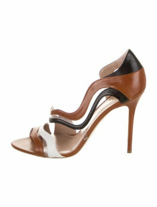 Aperlaï Dorsey Leather Sandals Brown
