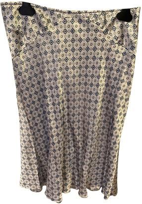 Shine Turquoise Silk Skirt for Women