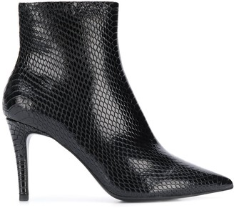 Ash Britney snakeskin-effect ankle boots