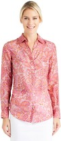 J.Mclaughlin Lois Silk Shirt in Libretto Paisley