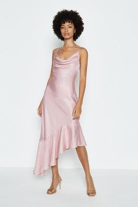 Coast Cowl Neck Asymmetric Midi Dress