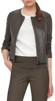 Akris Punto Women's Perforated Lambskin Leather Jacket