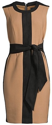 Toccin Two-Tone Tie Waist Dress