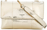 Lanvin metallic Sugar shoulder bag - women - Cotton/Leather/Snake Skin - One Size