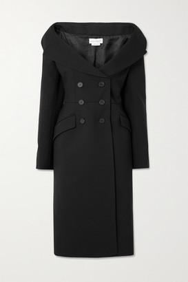 Alexander McQueen Double-breasted Wool-blend Coat - Black