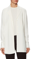Jason Wu Crepe Long Sleeve Tunic Blouse