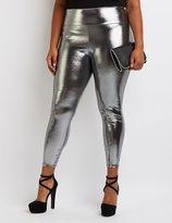 Charlotte Russe Plus Size Metallic Liquid Leggings