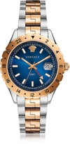 Versace Hellenyium GMT Stainless Steel Men's Watch w/Greek Inserts and Blue Dial