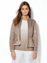New York & Co. Shearling-Lined Peplum Jacket
