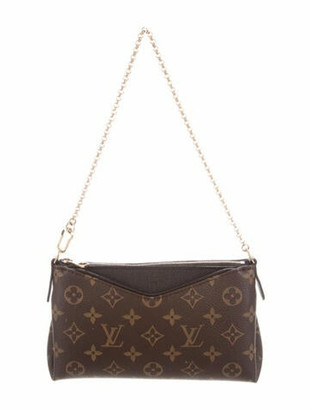 Louis Vuitton Monogram Pallas Clutch olive