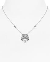 Freida Rothman Pave Bullseye Pendant Necklace, 15