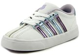 K-Swiss Classic Vn Toddler Round Toe Leather White Sneakers.