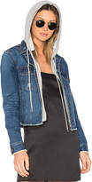 Central Park West Beacon Hooded Jean Jacket. - size XS (also in )