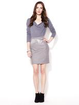 Susana Monaco Wool Sequin Flannel Skirt