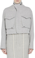 Bassike Wool Cropped Utility Jacket
