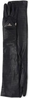 Prada Zipped Pouch Long Gloves