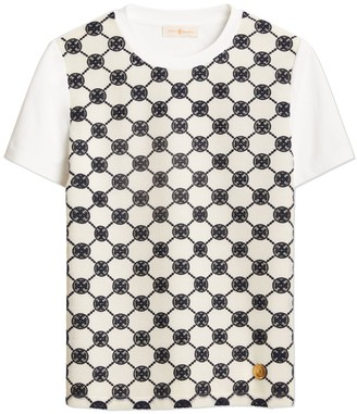 Tory Burch Logo Lace T-Shirt