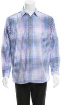 Etro Long Sleeve Gingham Button-Up