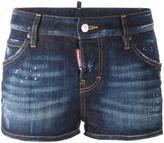 DSQUARED2 distressed denim shorts - women - Cotton/Spandex/Elastane/Polyester - 40