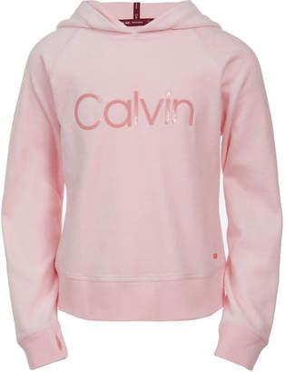 Calvin Klein Big Girls Velour Hoodie