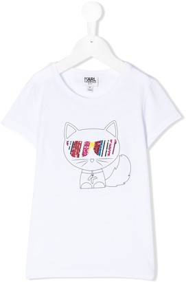 Karl Lagerfeld Paris Choupette Outline T-Shirt