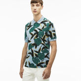 Lacoste Men's L!ve Regular Fit Tropical Print Petit Piqu Polo Shirt