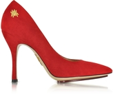 Charlotte Olympia Bacall Red Suede Pump