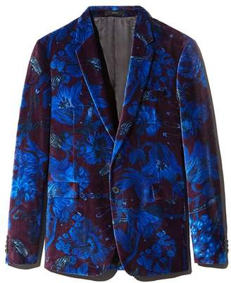 Paul Smith Floral Velvet Extra Slim Fit Jacket