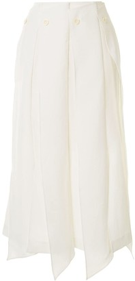 AKIRA NAKA Buttoned Draped Skirt