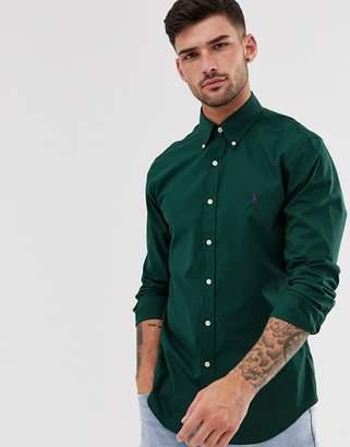 Polo Ralph Lauren poplin shirt slim fit button down player logo in green
